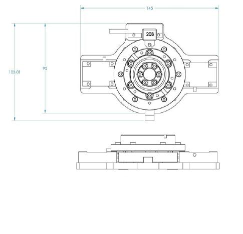 rotary-stage-dimensions